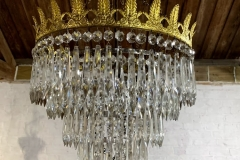 6 Tier Icicle Chandelier (Coronet Leaf Crown) - £285