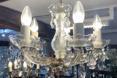 Dainty 5 Arm Chandelier with Pear Drop Droppers - £125