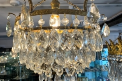 Chandelier with 6 rings of Pear Drops - £235