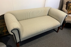 Low Back Contemporary Sofa in Ticking fabric. New - £345